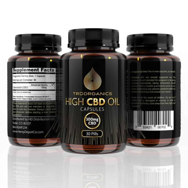 Tru Organics – Softgel CBD oil wholesale Pills