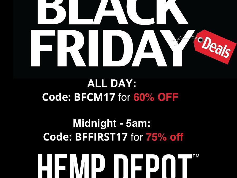 Hemp Depot announces its blowout Black Friday sale