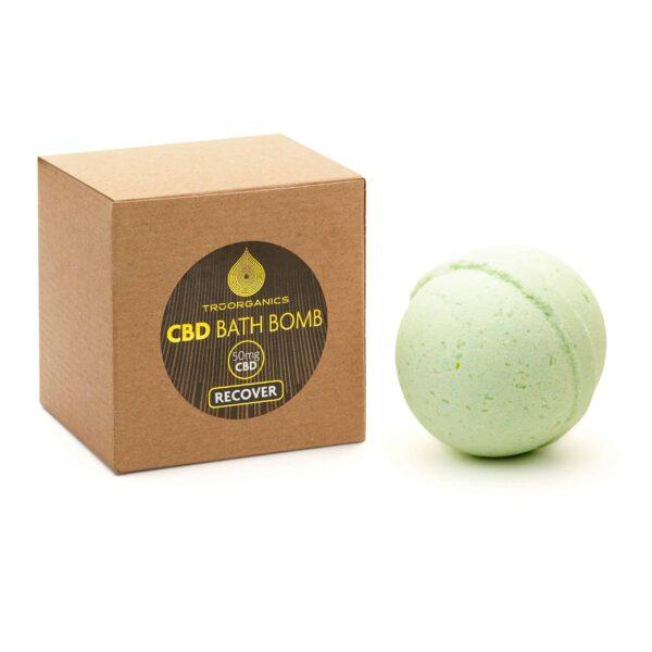wholesale cbd product TruOrganics–50mg_CBD_Bath_Bomb–Recover_v01