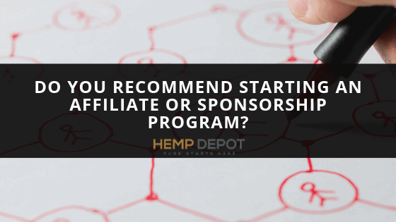 Do You Recommend Starting an Affiliate or Sponsorship Program?