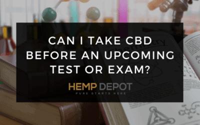 take cbd before test