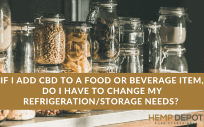 cbd food beverage storage