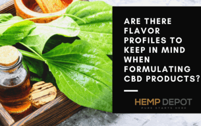 Are There Flavor Profiles to Keep in Mind When Formulating CBD Products?