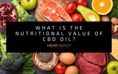 nutritional value cbd oil