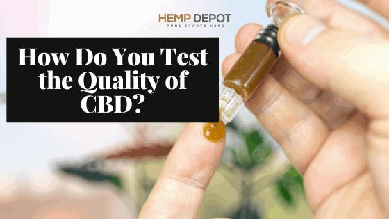 How Do You Test the Quality of CBD?