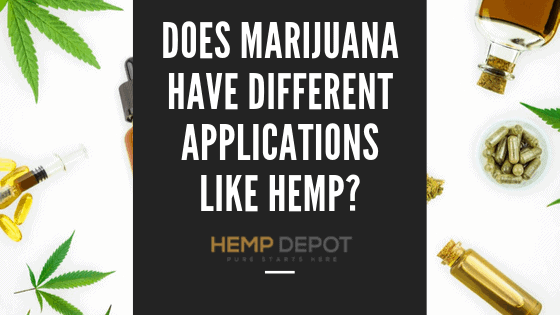Does Marijuana Have Different Applications Like Hemp?