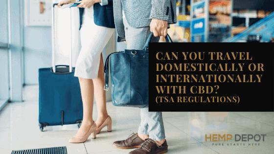 Can You Travel Domestically or Internationally with CBD (TSA Regulations)?