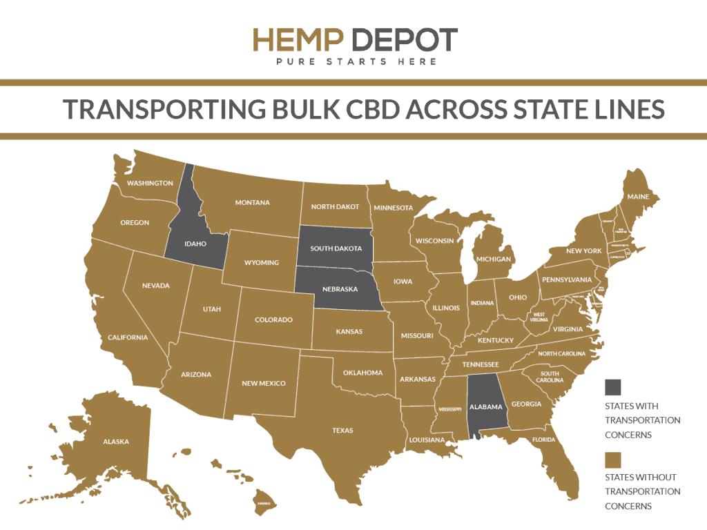 cbd bulk transportation laws
